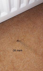 oil mark on carpet